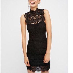 Free People Daydream Lace dress Black XS